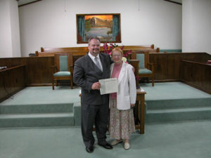 Bro. Chris and his mother Mrs. Ruth Rowley
